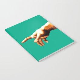 """Michelangelo """"Creation of Adam""""(detail)(edited) 1. Notebook"""