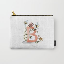 B is for Bee - Letter B Monogram Carry-All Pouch