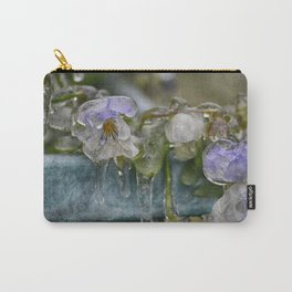 Pansies on Ice Carry-All Pouch
