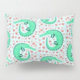 Alligator Loves Tulips Pillow Sham