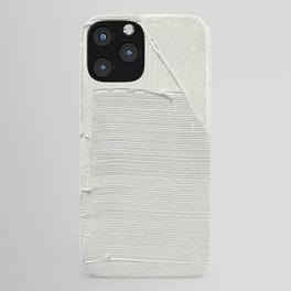 Relief [2]: an abstract, textured piece in white by Alyssa Hamilton Art iPhone Case