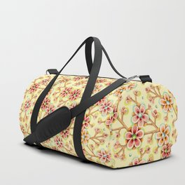Candy Apple Blossom Yellow Duffle Bag