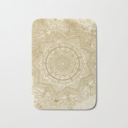 tan splash mandala swirl Bath Mat