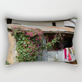 RUSTIC FRONT PORCH IN NEPALI BLOOM Rectangular Pillow