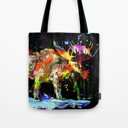 Moose Grunge Tote Bag