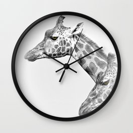 Two Giraffes Wall Clock