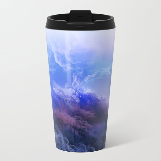 purple mountains Metal Travel Mug