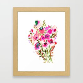 Bouquet Pink Framed Art Print