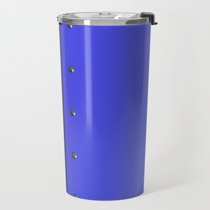 Colored plate with rivets and circular metal grille Travel Mug