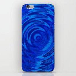 Water Moon Cobalt Swirl iPhone Skin