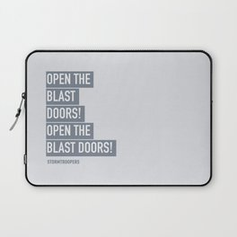 OPEN THE BLAST DOORS Laptop Sleeve