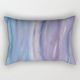 Touching Purple Blue Watercolor Abstract #2 #painting #decor #art #society6 Rectangular Pillow