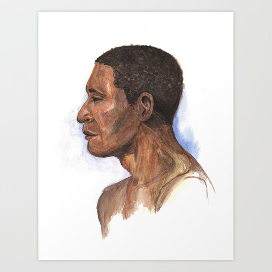 Portrait study 2 Art Print