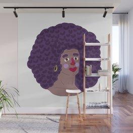 purple fro Wall Mural