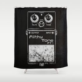 Filthy Tone Guitar Pedal Shower Curtain