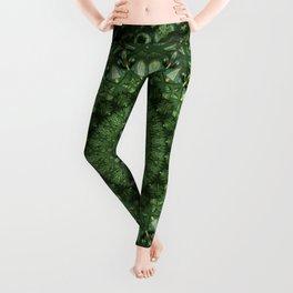 Mandala in olive green tones Leggings