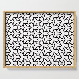 Pattern Abstrait Formes Noir Serving Tray