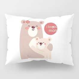 Mutual snatched bear mother and child Pillow Sham
