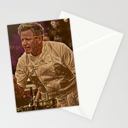 Gordon Ramsay Artistic Illustration Sparkle Style Stationery Cards