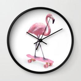 LIMITED EDITION SKATE FLAMINGO Wall Clock