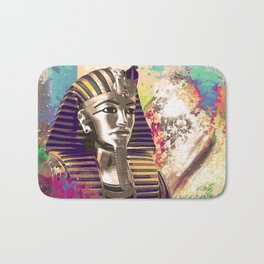 King Tut  Mask Abstract composition Bath Mat