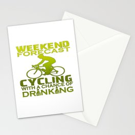 WEEKEND FORECAST CYCLING Stationery Cards