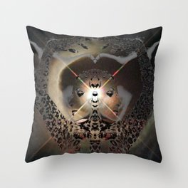 Dolores del Rio Astral Cat Goddess Throw Pillow