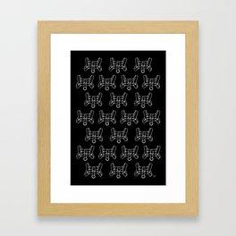 Chest Harness Pattern Framed Art Print