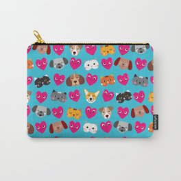 Cat Loves Dog Loves Cat Carry-All Pouch