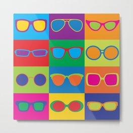 Pop Art Eyeglasses Metal Print