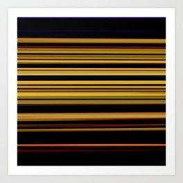 Marigold - Striped Art Print