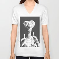 et V-neck T-shirts featuring ET by danielabbart