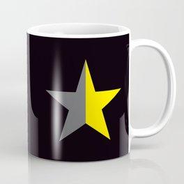 Ancap Star flag yellow and black background Coffee Mug