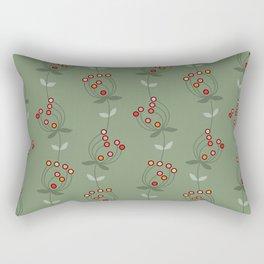 sweet dancing flowers - natural rusty green Rectangular Pillow