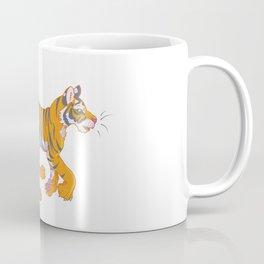 Running Bengal Tiger Coffee Mug