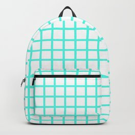 Grid (Turquoise & White Pattern) Backpack