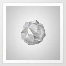 white crystal Art Print