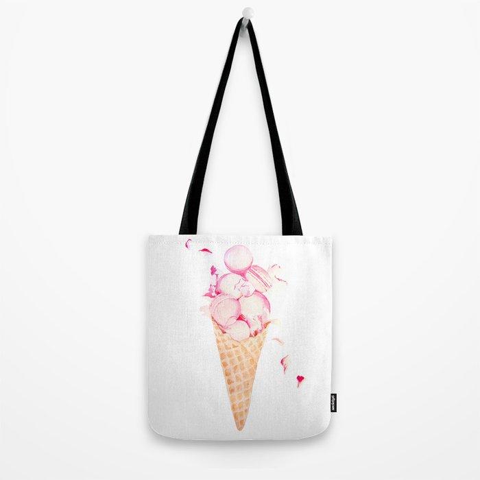 Pink Macaroons Ice Cream Tote Bag
