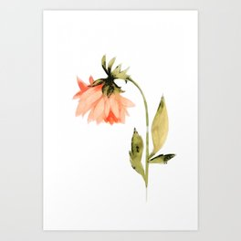 Garden Flower Painting 05 Art Print