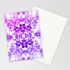 Floral Print - Magenta & Purple Stationery Cards