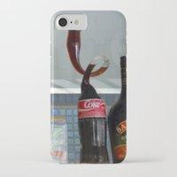 coca cola iPhone & iPod Cases featuring Coca cola by Miz2017