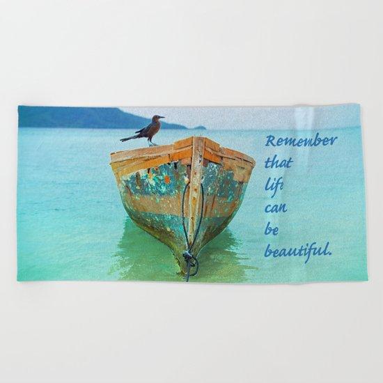 REMEMBER Beach Towel