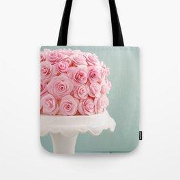 Cake with sugar roses Tote Bag