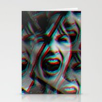 psycho Stationery Cards featuring PSYCHO by Inception of The Matrix