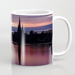 Pink Sky Over The Lichfield Cathedral Coffee Mug