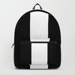 5th Avenue Stripe No. 2 in Black and White Onyx Backpack