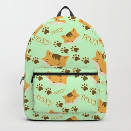 Cute Foxy on green Backpack