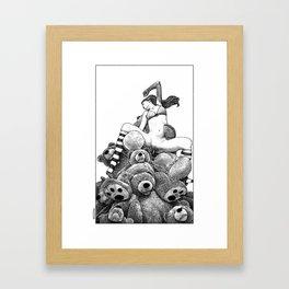 asc 606 - La récolte du miel (The vixen and the bears) Framed Art Print