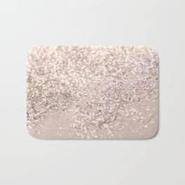 Blush Glitter Dream #4 #shiny #decor #art #society6 Bath Mat