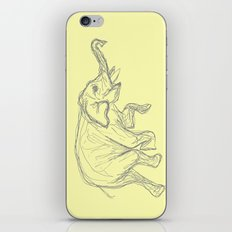 Elephant Swimming Gestural Drawing iPhone & iPod Skin